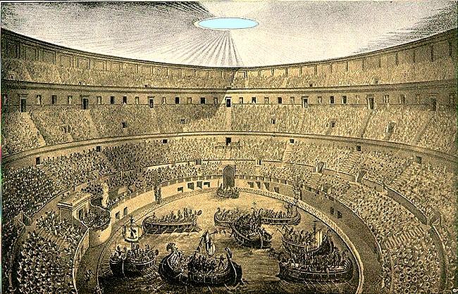 batallas navales en la Roma antigua