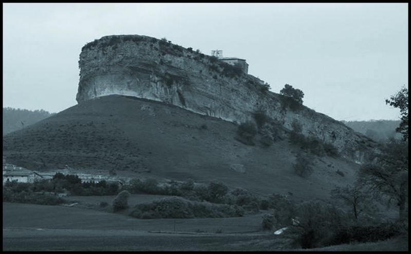 Peña donde está situada la ermita de San Pantaleón